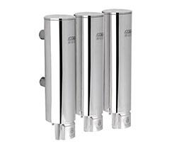 Triple 304 stainless steel shower gel dispenser(AYT-629-3 Polished)
