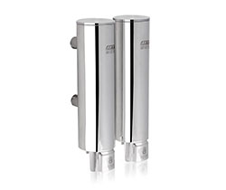 Double 304 stainless steel manual soap dispenser (AYT-629-2 polished)