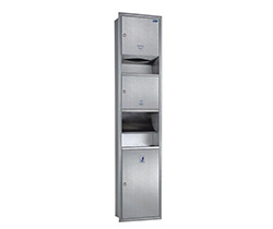 3 in 1 combination stainless steel paper towel dispenser AYT006