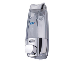 Hotel plastic wall mounted soap dispenser AYT-638D-1 polished